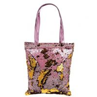 Two-Tone Magic Sequin Shopper Tote Bag 39x33cm